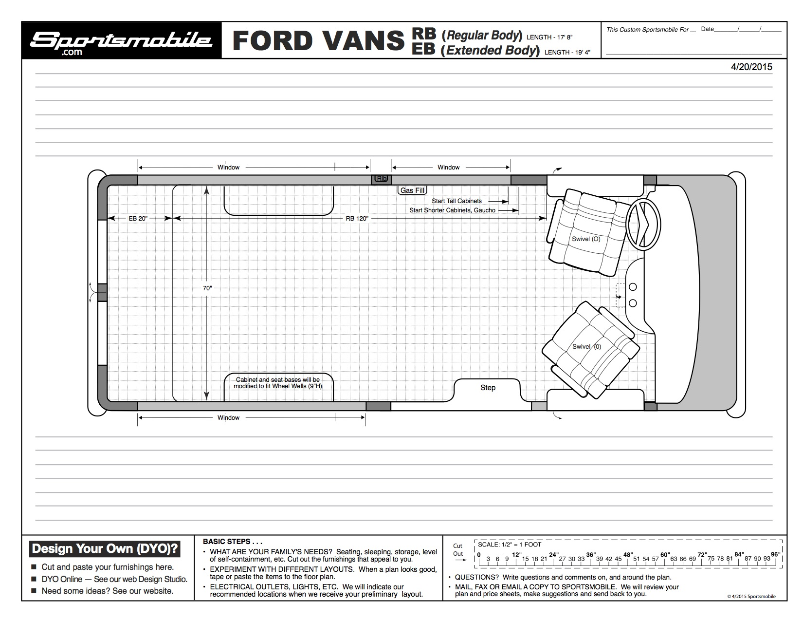 Ford Transit Dimensions >> Dimensions For Popular Vans In Blueprint Style The Build